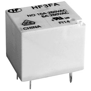 Miniature relay, 24 V, 1 changeover contact, 15 A, RT III HONGFA HF3FA/024-ZTF