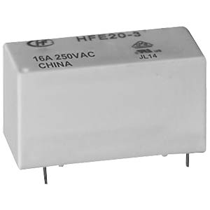 Inrush relay, 24 V, 1 NO, 16 A, bistable HONGFA HFE20-1/024-1HD-L2