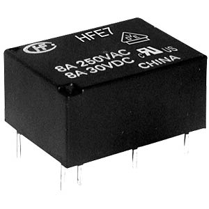 Miniature relay, 24 V, 1 NO/1 NC, 8 A, bistable, RT III HONGFA HFE7/024-1HDST-L2
