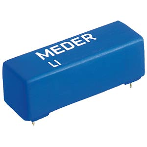 High-voltage reed relay, LI, 1 N/O, max. 1.0 A DC/ACpeak MEDER 1605185000