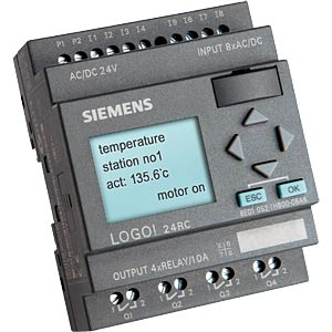 LOGO! compact controller with display, 24 V AC/DC SIEMENS 6ED1052-1HB00-0BA6