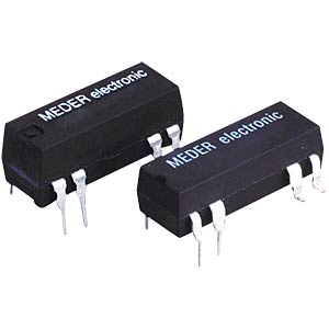 Reed relay, 5 V, 1 changeover contact, 0.25 A, Ri=200 ohm MEDER DIP05-1C90-51L