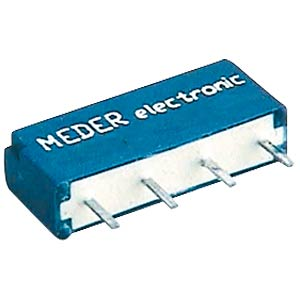 Reed relay, SIL, 5 V, 2 N/O, 0.5 A, with diode MEDER 4205287178