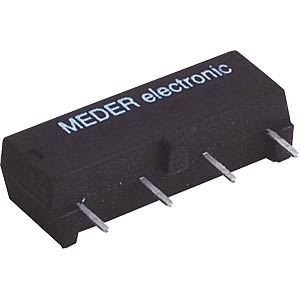 Reed relay, 12 V, 1 NO with diode, 1 A MEDER SIL 12-1A72-71D