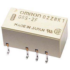 Subminiaturrelais, SMD, 2x UM, 250V 2A, 12V OMRON