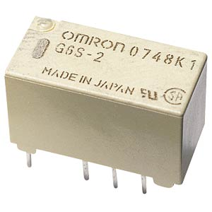 Subminiature relay, 2 x UM, 250V 2A, 12V OMRON
