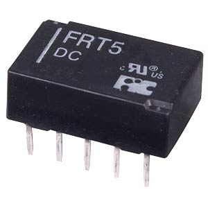 DIL miniature signal relay FRT5 24 VDC, 2 changers  1A FREI