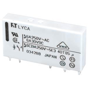 Slim power relay FTR-LYCA, 12 V, 1 changer, 6 A FUJITSU-TAKAMISAWA FTR-LYCA