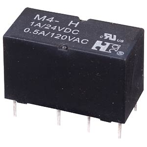 DIL miniature signal relay M4S 12V, 2 changers, 1 A FREI