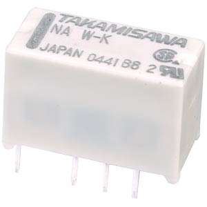 Subminiature relay NA 24 V DC, 2x 2 A change-over contacts FUJITSU-TAKAMISAWA