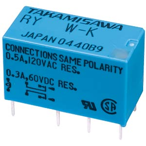 RY signal relay, 12 V DC, 2 changeover contacts, 1 A FUJITSU-TAKAMISAWA RY012WK