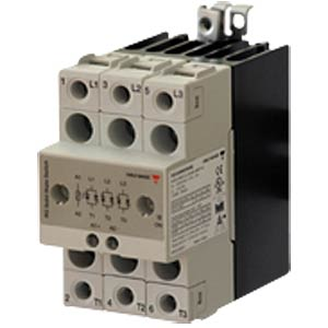 Semiconductor relay, 3-pin, 3x 20 A/600 VAC CARLO GAVAZZI RGC3A60D20KKE
