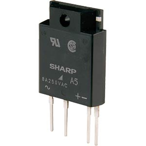 Solid state relay, voltage: 600 V, IT: 8.0 A, IFT: 8 mA SHARP S 202 S 11F