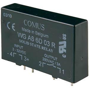 Solid-State-Relais, Ust.= 3-32VDC,Ulast=24-420V COMUS WGA8-6D03R