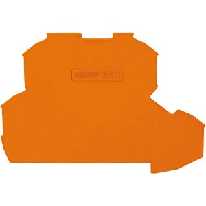 End plate for 2000 series, orange WAGO 2000-2292