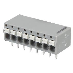 Leiterplattenklemme 8-polig, 1,5mm² , grau WAGO 2081-1208
