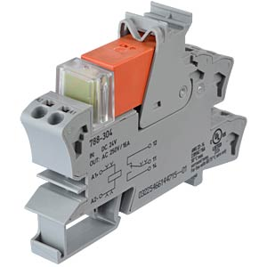 Plug-in relay socket, one changeover contact, 24 V DC WAGO 788-304