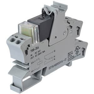 Plug-in relay socket ALZ, one changeover contact, 24 V DC WAGO 788-354