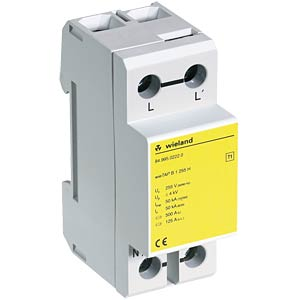 Overvoltage/lightning protection B1 255 H 1-pin WIELAND 84.995.0222.0