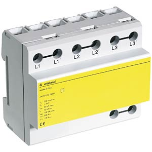 Overvoltage/lightning protection B3 255 H, 3-pin WIELAND 84.995.0120.0