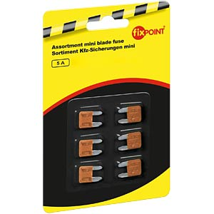 Automotive fuses, mini, 6-pack, 5 A FREI