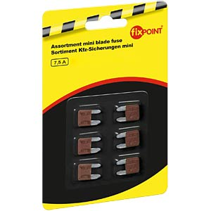 Automotive fuses, mini, 6-pack, 7.5 A FREI
