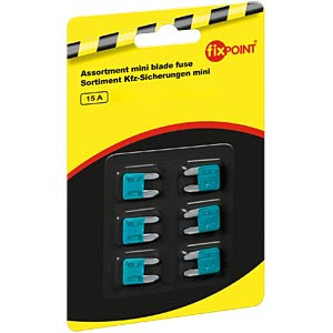 Automotive fuses, mini, 6-pack, 15 A FREI