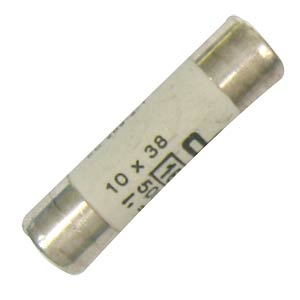 Fuse, 10.3 x 38 mm, slow-blow, 10 amps ESKA 1038.327
