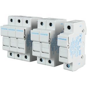 Photovoltaics, FSO fuse holder, 10.3 x 38, 3-pin SCHURTER 0091.0003