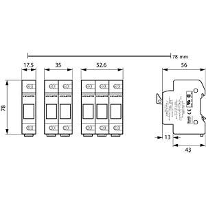 Photovoltaik, FSO 10,3x38 SiHalter, 1-polig SCHURTER 0091.0001
