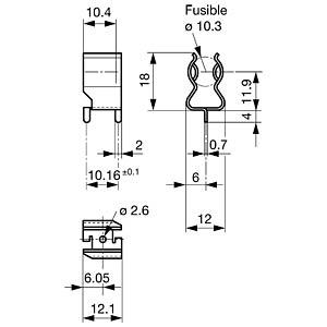 Photovoltaik, ASO 10,3x38, Haltefeder SCHURTER 7170.0470