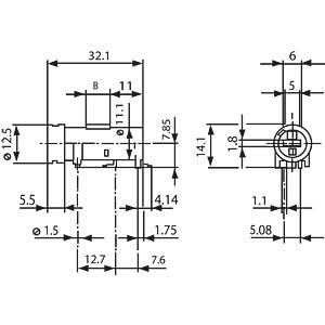 SMD assembly, FPG7, 250 VAC, 10 A (VDL), 16 A (UL) SCHURTER 3101.0071