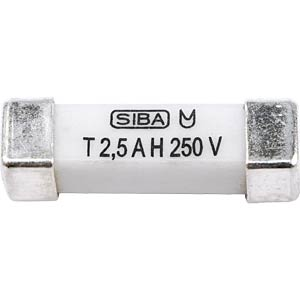 SMD fuse, 4.5 x 16, time-lag, 305 V, 2.5 A SIBA 160016.2,5GT
