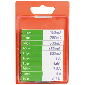 Microfuse assortment 5x20mm, time-lag ESKA 122800