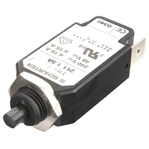 Resettable device circuit breaker, 12 A SCHURTER T11-211 12A