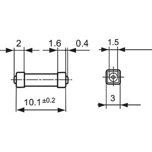 0,63A SMD-Sicherung SCHURTER 3403.0165.11