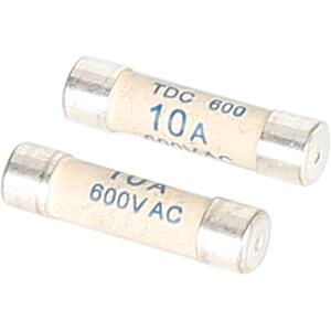 Zekering 6,35x25,4mm, 600V, 10 A, f UNI-TREND UTF02