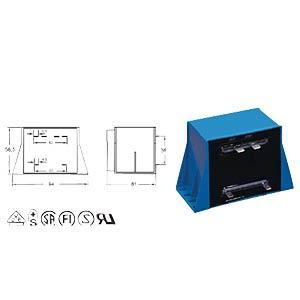 Printtrafo, 50 VA, 2x 12 V, 2x 2,08 A, RM 35 mm BLOCK TRANSFORMATOREN VCM 50/2/12
