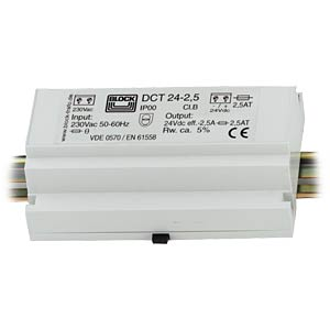 DC power supply, 12 V, 2.0 A BLOCK TRANSFORMATOREN DCT 12-2