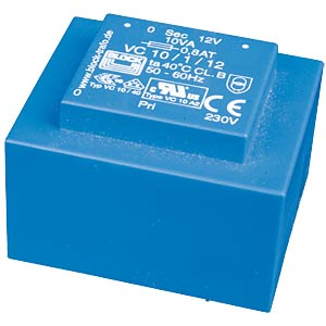 Transformer 10 VA, 2 x 12 V, 2 x 416 mA BLOCK TRANSFORMATOREN VC 10/2/12