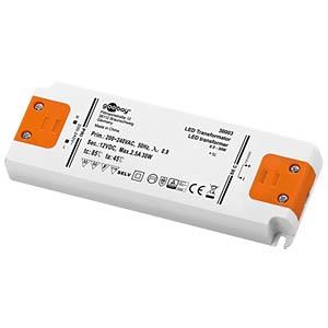 LED transformer, 12 V DC, 0.5 - 30 W, slim GOOBAY 30003