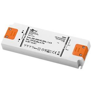 LED transformer, 12 V DC, 1 - 50 W, slim GOOBAY 30004