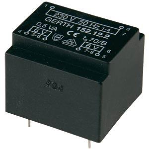 Transformer, Gerth series 152.xx, 0.5 VA, 6 V GERTH 152.06