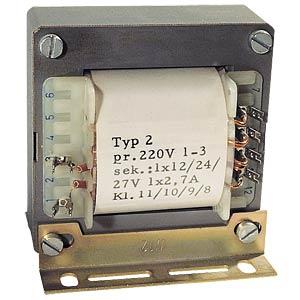Universal-Trafo, 3 A, 1x 3 - 30V, 2x 3 - 15V BLOCK TRANSFORMATOREN TE 138