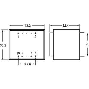 Printtrafo, 4,8 VA, 24 V, 200 mA, RM 25 mm GERTH 421.24
