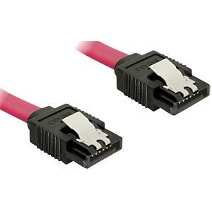 Serial ATA III cable, 10 cm, metal DELOCK 82674