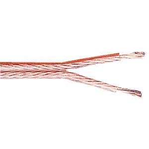 Lautsprecherlitze, 2x1,5mm², transp., 50m-Ring FREI