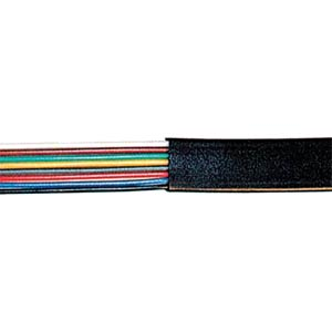 Modular cable, 8-pin, black, 50 m ring FREI