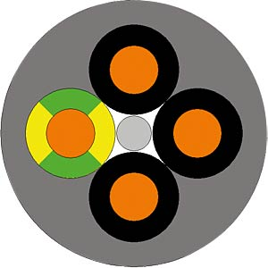 ÖLFLEX® CLASSIC 110 - 100 m, 4 x 1,0, mit PE LAPPKABEL 1119204/100