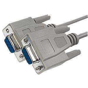 D-SUB cable, 1:1, 9-pin, BU/BU, 5m FREI